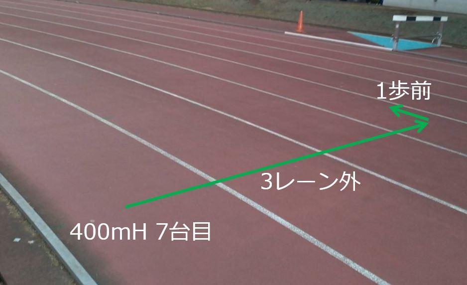 150mのスタート