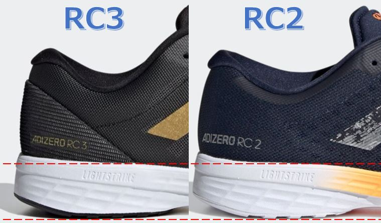 Adizero RC3 厚さ